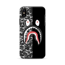 Bape Shark Camo & Black iPhone XS Max Hybrid Case
