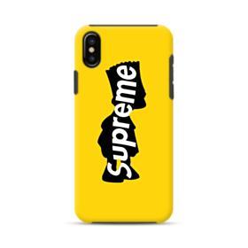 Supreme Bart Simpson Clip iPhone XS Max Hybrid Case