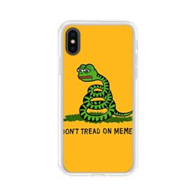 Pepe the frog don't tread on memes iPhone XS Clear Case