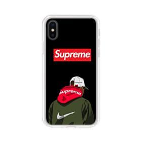 Supreme x Nike Hoodie iPhone XS Clear Case