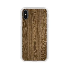 Highland Hickory Wood iPhone XS Clear Case
