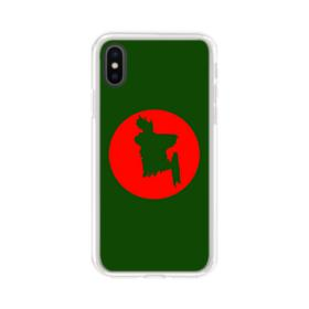 Red Disc Abstract iPhone XS Clear Case