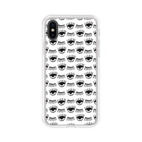 Eyebrows iPhone XS Clear Case