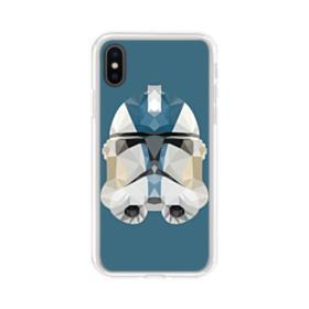 Star War Helmet iPhone XS Clear Case