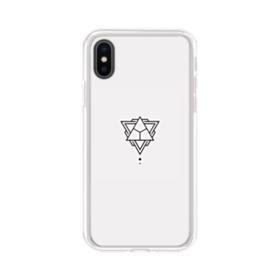 Abstract Triangles iPhone XS Clear Case