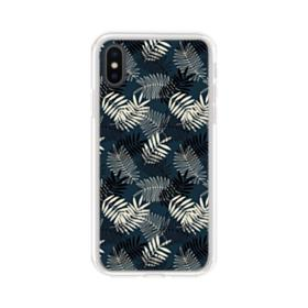 Leaves Motif iPhone XS Clear Case