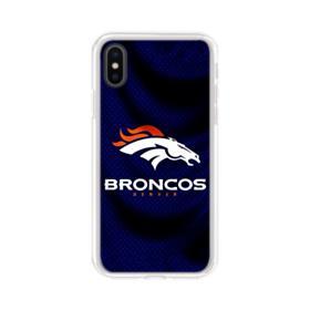 Denver Broncos Team Logo Dark iPhone XS Clear Case