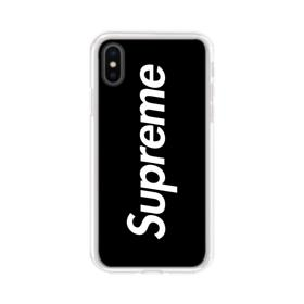 Supreme Black Cover iPhone XS Clear Case