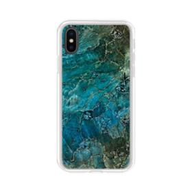 Green Marble iPhone XS Clear Case