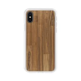 Asheville Hickory Wood iPhone XS Clear Case