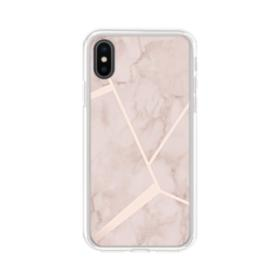 Fractal Geometric Marble iPhone XS Clear Case