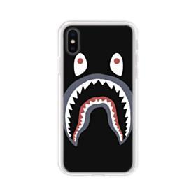 Bape Shark Logo iPhone XS Clear Case