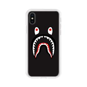 Black Monster Shark AAPE Logo iPhone XS Clear Case
