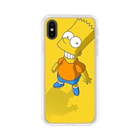 The Simpsons Bart Smiling iPhone XS Clear Case