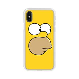 The Simpsons Face iPhone XS Clear Case