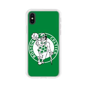 Boston Celtics Green iPhone XS Clear Case