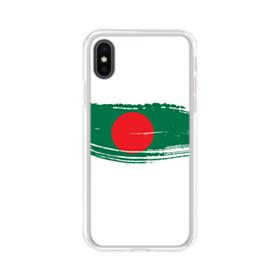Abstract Bangladesh Flag iPhone XS Clear Case