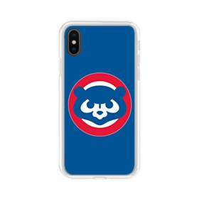 Cubs Mascot Red Circle iPhone XS Clear Case