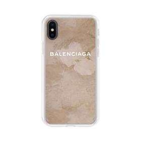 Balenciaga Grunge Style iPhone XS Clear Case