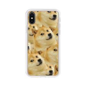 Doge meme seamless iPhone XS Clear Case