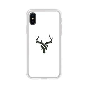 Minimalist Abstract Reindeer iPhone XS Clear Case