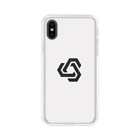 Minimalist Abstract Shape iPhone XS Clear Case