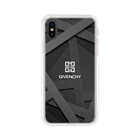 Givenchy Geometric Pattern iPhone XS Clear Case