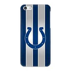 Indianapolis Colts Logo Vertical Silver Stripes iPhone 5C Case