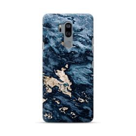 Navy Blue Sarrancolin Marble LG G7 Case