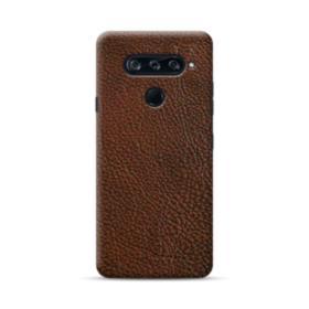 Dark Brown Leather LG V40 ThinQ Case