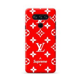 Classic Red Louis Vuitton Monogram x Supreme Logo LG V40 ThinQ Case