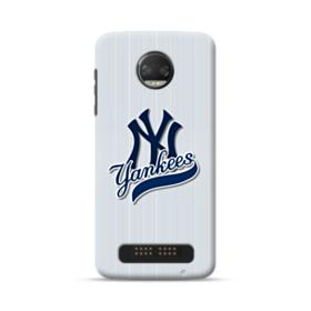 New York Yankees Vertical Lines Moto Z2 Force Case