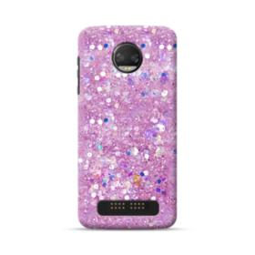 Pink Sparkling Glitter Flakes Moto Z2 Force Case