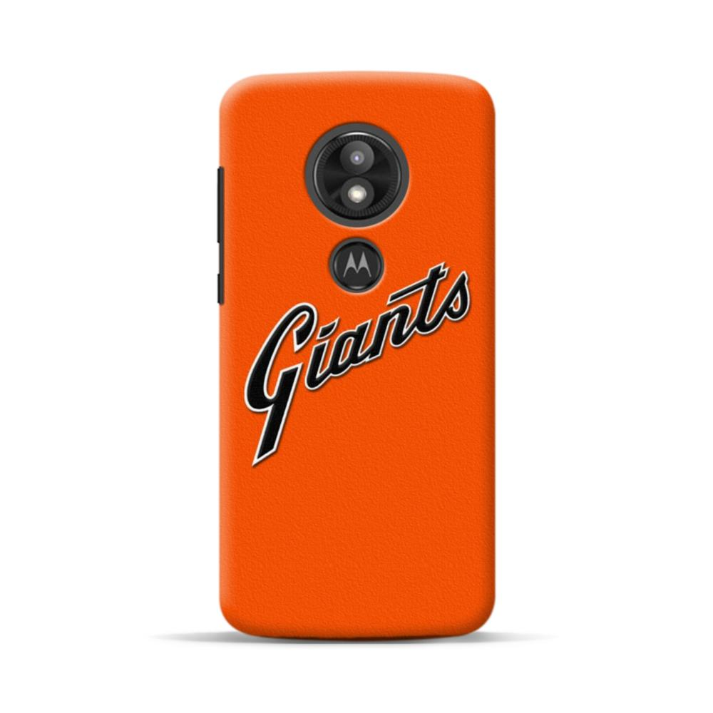 San Francisco Giants Team Logo Orange Texture Motorola Moto