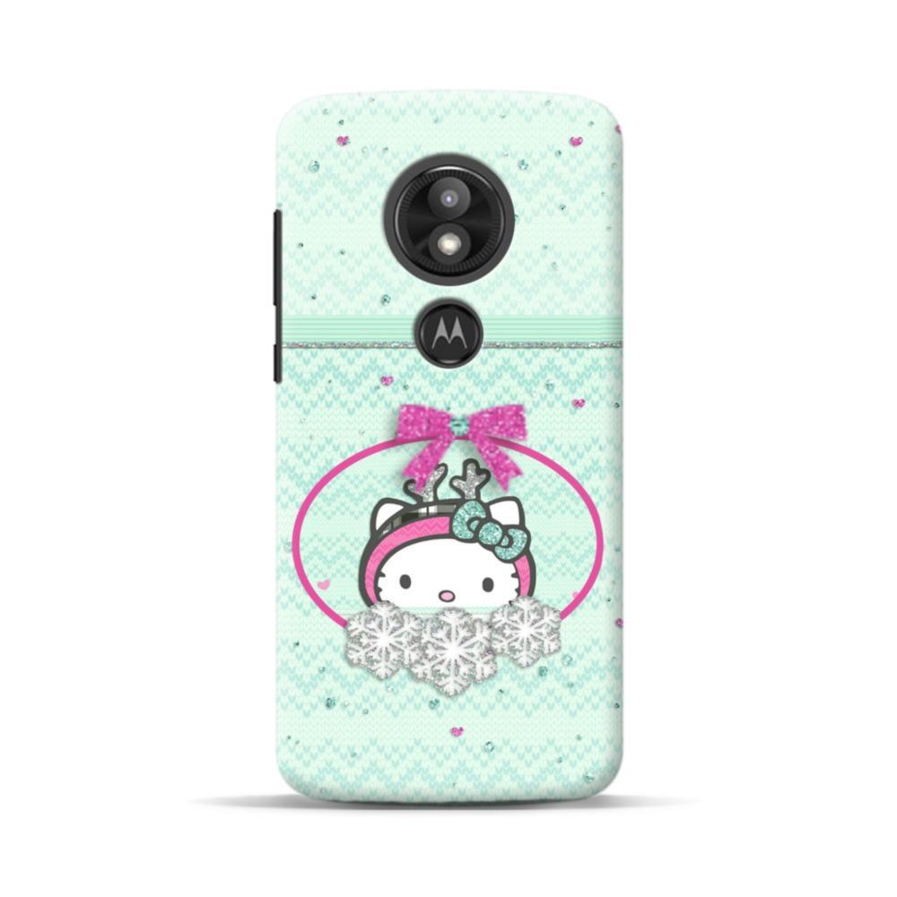 low priced 59217 6f6ce Green Hello Kitty Bow Motorola Moto E5 Play Case