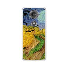 Wheatfield with Crows Motorola Moto E5 Plus Clear Case
