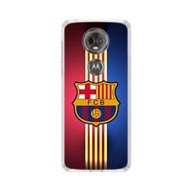 FC Barcelona Gold Vertical Stripes Motorola Moto E5 Plus Clear Case