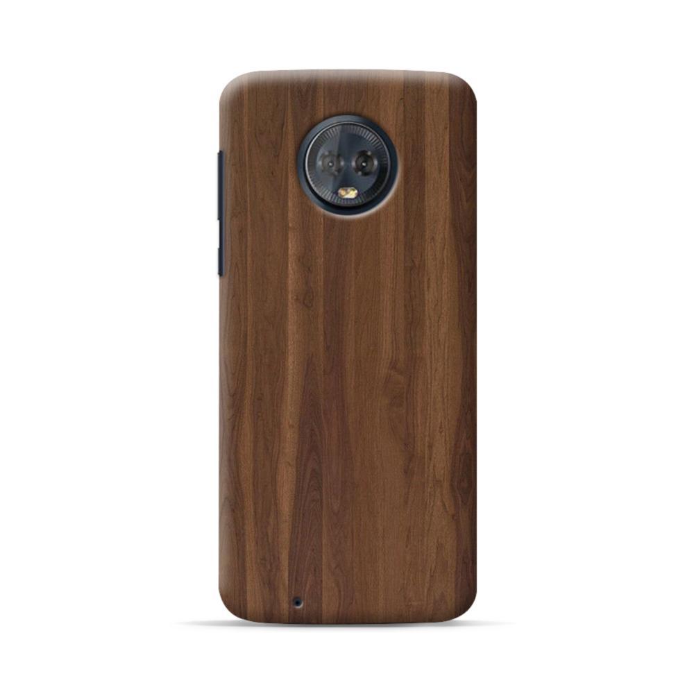 more photos 0d633 970db Dark Walnut Wood Motorola Moto G6 Case