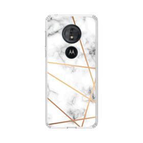 White Marble Motorola Moto G6 Play Clear Case