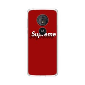 Supreme Red Cover Motorola Moto G6 Play Clear Case