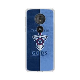 Tennessee Titans Team Logo Sketch Motorola Moto G6 Play Clear Case