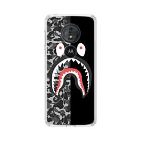 Bape Shark Camo & Black Motorola Moto G6 Play Clear Case
