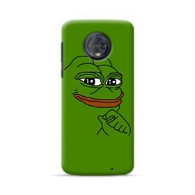 Smug Pepe Frog Funny Meme Motorola Moto G6 Plus Case