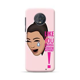 Crying Kim emoji kimoji meme  Motorola Moto G6 Plus Case
