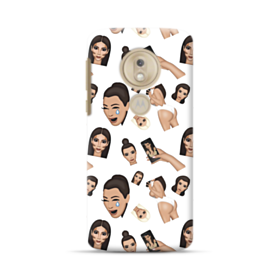 Kim Kardashian Emoji Kimoji seamless Motorola Moto G7 Play Case