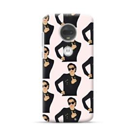 Kris Jenner middle finger meme Motorola Moto G7 Plus Case