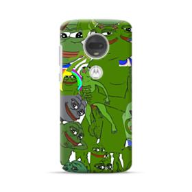 Rare pepe the frog seamless Motorola Moto G7 Plus Case