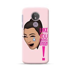 Crying Kim emoji kimoji meme  Motorola Moto G7 Power Case