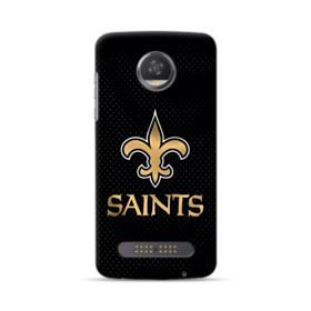 New Orleans Saints Team Logo Dots Black Motorola Moto Z3 Case