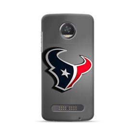 Houston Texans Logo Gray Shadow Plate Motorola Moto Z3 Case